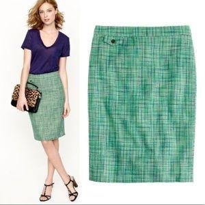 JCrew Caribbean Tweed Pencil Skirt